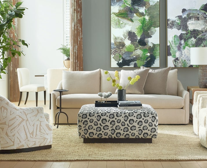 modern living room furniture and decor