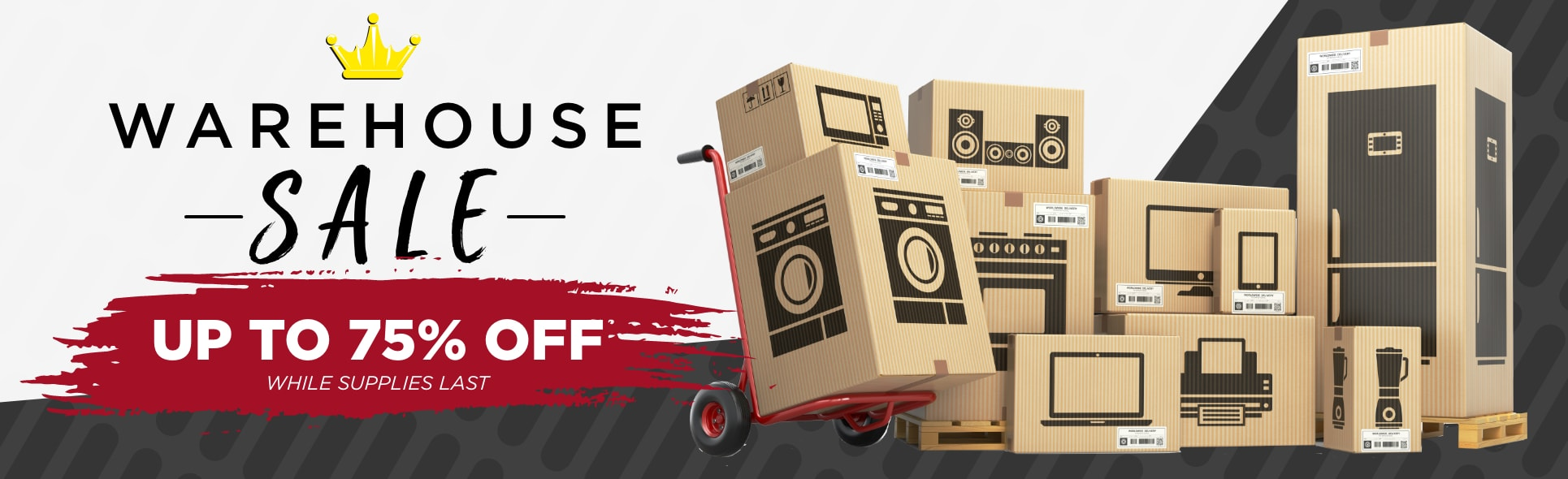 Warehouse Sale - Up to 75% off